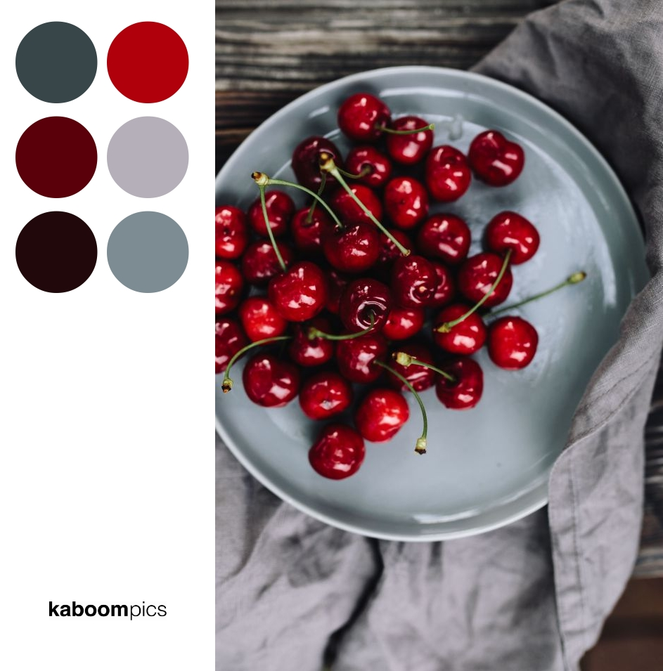 Colors Inspiration - FRESH CHERRIES ON A SIMPLE PLATE
