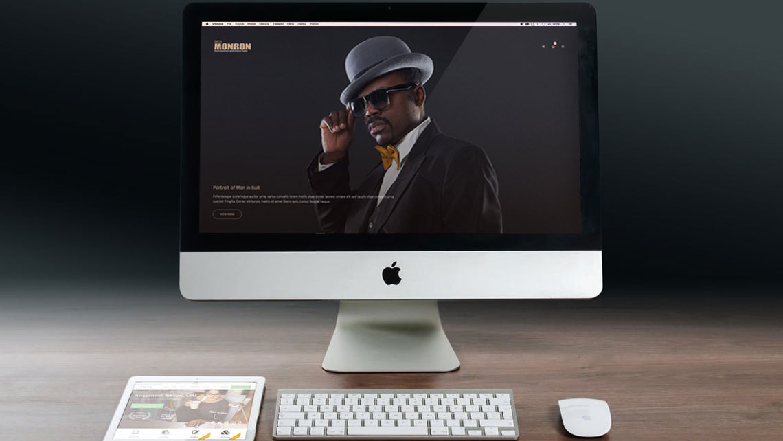 Photographer WordPress Theme with fullsize photo